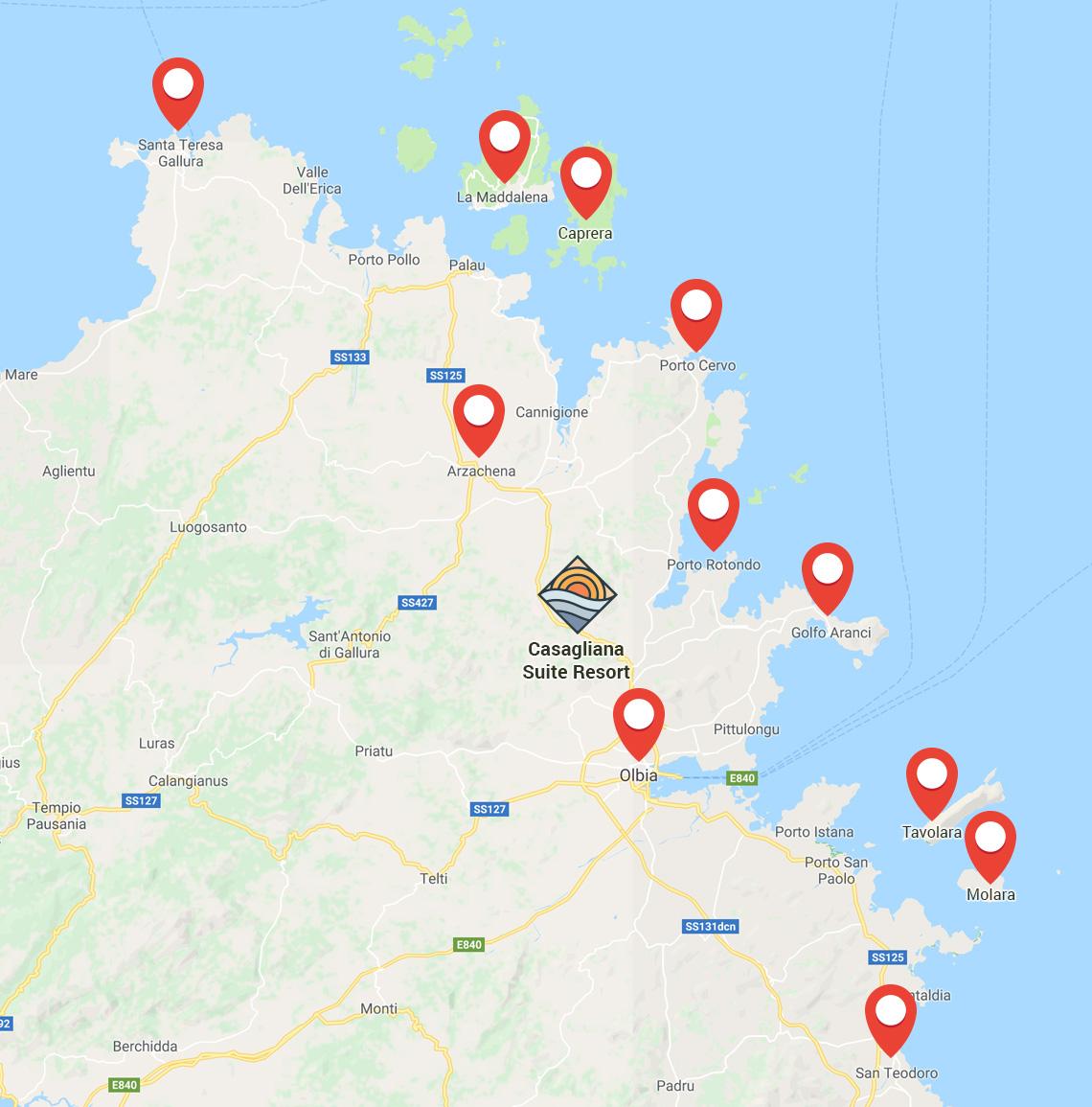 mappa territorio casagliana